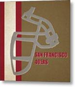 Retro 49ers Art Metal Print