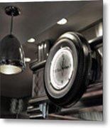 Retro 50's Clock Restaurant  Metal Print