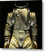 Retro Astronaut Metal Print