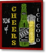 Retro Beer Sign-jp2915 Metal Print