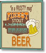 Retro Beer Sign-jp2917 Metal Print