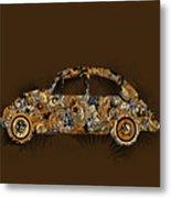 Retro Beetle Car 6 Metal Print