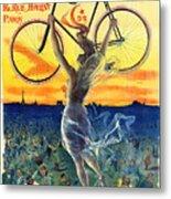 Retro Bicycle Ad 1898 Metal Print