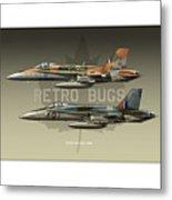 Retro Bugs Metal Print