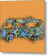 Retro Camper Van 2 Metal Print