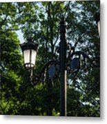 Retro Chic Streetlamps - Old World Charm With A Modern Twist Metal Print