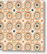 Retro Circles Pattern Metal Print