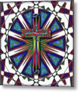 Retro Cross Metal Print