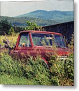 Retro Ford Metal Print