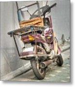 Retro Moped #2 Metal Print