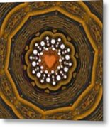 Retro Peace With Love And A Heart Of Gold Metal Print