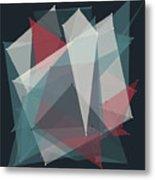 Retro Polygon Pattern Metal Print