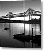 Retro San Francisco Oakland Bay Bridge Metal Print