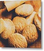 Retro Shortbread Biscuits In Old Kitchen Metal Print