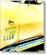 Retro Stingray Metal Print