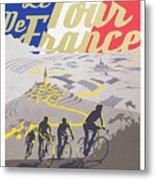 Retro Tour de France Metal Print