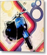 Retro Vespa Scooter Metal Print by Michael Tompsett