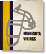 Retro Vikings Art Metal Print