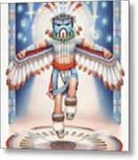 Return Of The Blue Star Kachina Metal Print