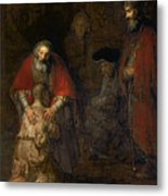 Return Of The Prodigal Son Metal Print by Rembrandt Harmenszoon van Rijn