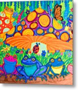 Return To Happy Frog Meadow Metal Print