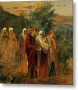 Returning From The Burial Of Christ Metal Print