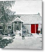 Retzlaff Winery With Red Door No. 2 Metal Print