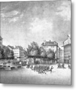 Revolution Of Geneva 1846 Place Bel-air Metal Print