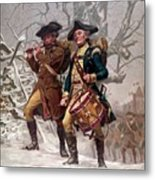 Revolutionary War Soldiers Marching Metal Print