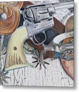 Revolver With Spurs Metal Print