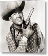 Rex Allen, Vintage Actor Metal Print