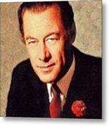 Rex Harrison, Vintage Actor Metal Print