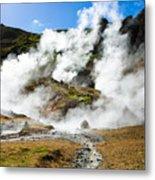 Reykjadalur Geothermal Area In Iceland Metal Print