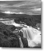 Reykjafoss Waterfall Iceland 3996 Metal Print