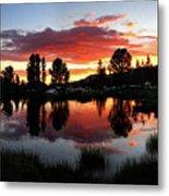 Reymann Lake Sunset - Yosemite Metal Print