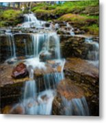 Reynolds Mountain Waterfall Metal Print