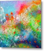 Rhapsody In Blue, And Red, And Green Metal Print