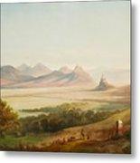 Rhenish Landscape With A View Of The Siebengebirge Metal Print