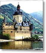 Rhine River Castle Metal Print