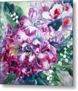 Rhododendron And Lily Of The Valley Metal Print