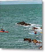 Rhoscolyn Rock Panorama Metal Print