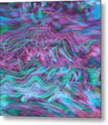 Rhythmic Waves Metal Print