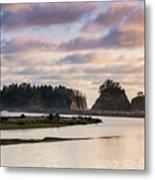Rialto Beach Sunset On The Pacific Coast In Washington Metal Print