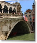 Rialto Bridge In Venice Metal Print