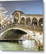 Rialto Bridge Metal Print