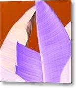 Ribbed In Violet Metal Print