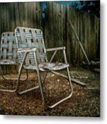 Ribbon Chairs Metal Print