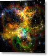 Ribbon Nebula Metal Print