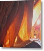 Ribbons - Cave Metal Print