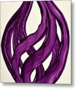 Ribbons Of Love-violet Metal Print